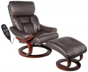 Comfort Vantin Deluxe Massage Recliner and Ottoman with 8 Motors and Heat